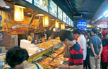 Crowded Gongdeok Market and Pancake Alley